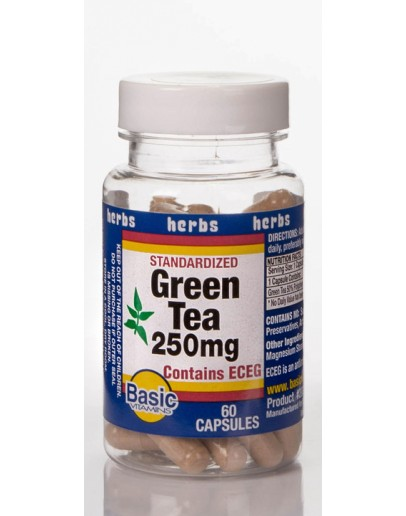 GREEN TEA 250mg. Capsules