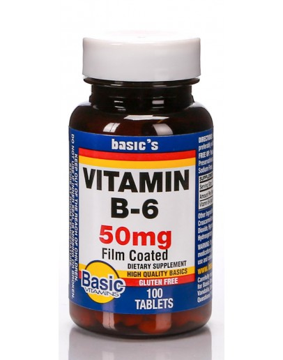 VITAMIN B-6 50mg. Tablets