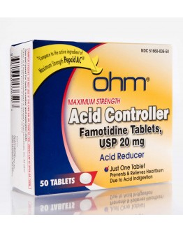 Acid Control Famotidine 20mg tablets