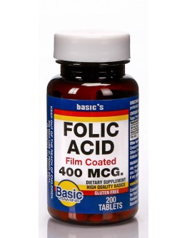 FOLIC ACID 400mcg. Tablets