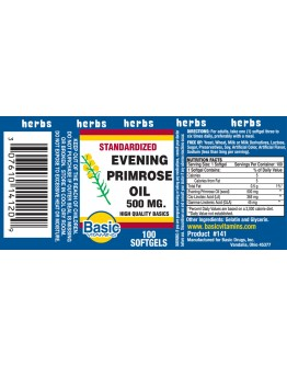 EVENING PRIMROSE OIL 500mg. Softgels
