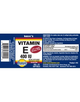 400 I.U. VITAMIN E Softgels