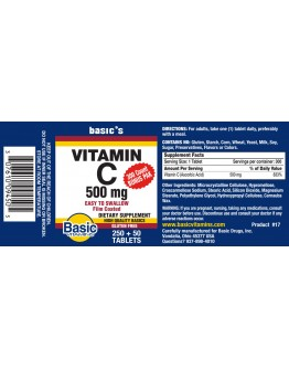 500mg. VIT C Tablets