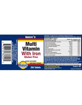 MULTIVITAMIN WITH IRON Tablets