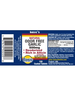 ODORFREE GARLIC Tablets 500mg