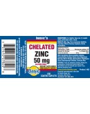 CHELATED ZINC 50mg. Tablets