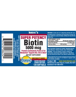 BIOTIIN 5000mcg. Softgels