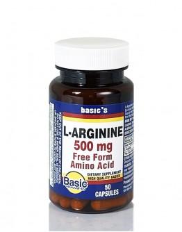 L-ARGININE 500mg CAPSULES
