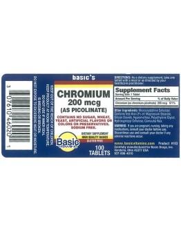 CHROMIUM PICOLINATE 200mcg. TABLETS