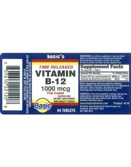 B-12 1000mcg. T.R. Tablets