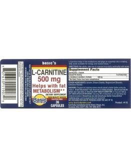 L-CARNITINE 500mg. Capsules