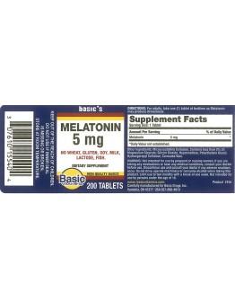 Melatonin 5mg. Tablets