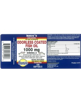 COATED FISH OIL 1000mg.