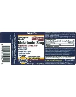 LIQUID MELATONIN 3 mg.