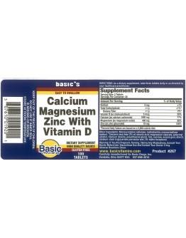 CAL, MAGNESIUM W Zinc + Vitamin D Tablets