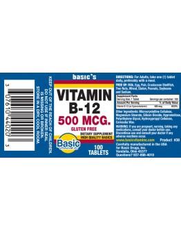 B-12 500mcg. Tablets